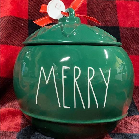 Rae Dunn Merry Ornament Canister